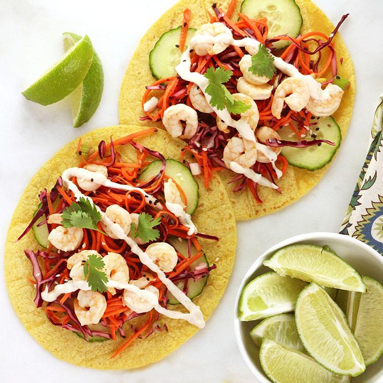 Fresh & Spicy Shrimp Tacos