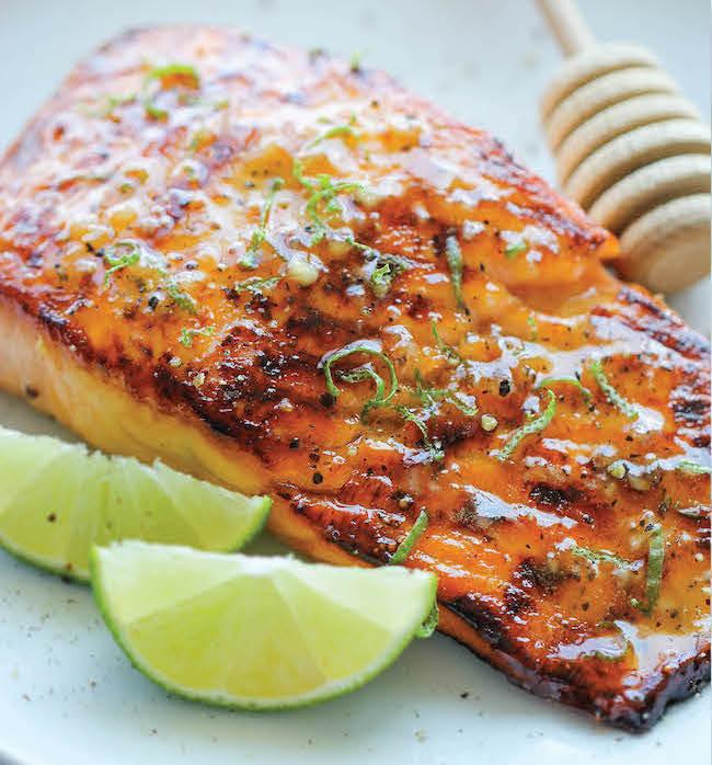 Honey Glazed Salmon with Orange and Ginger