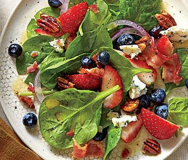 Spinach Salad with Honey Dressing